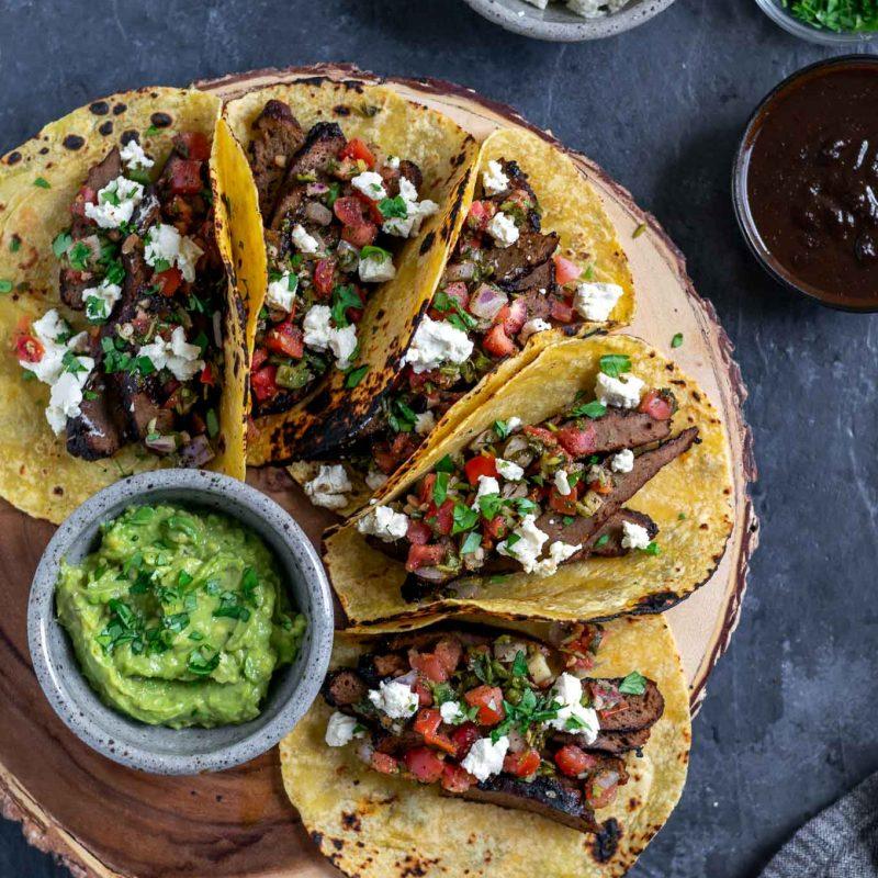 Vegan Seitan Carne Asada Tacos